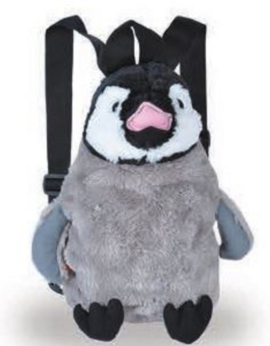 This penguin makes a great travelling companion and backpack. Soft, cute, cuddly and pract