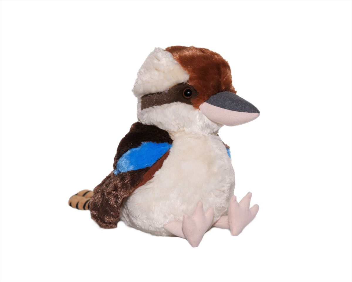 Plush kookaburra - 32cm tall. Available at The Land Down Under online store.