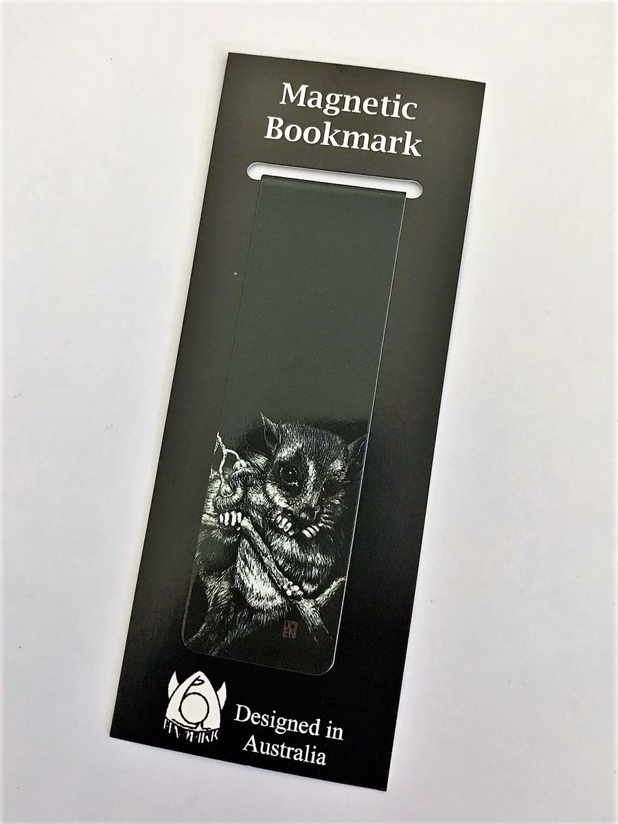 Never lose your page again with this possum magnetic bookmark - available from The Land Do