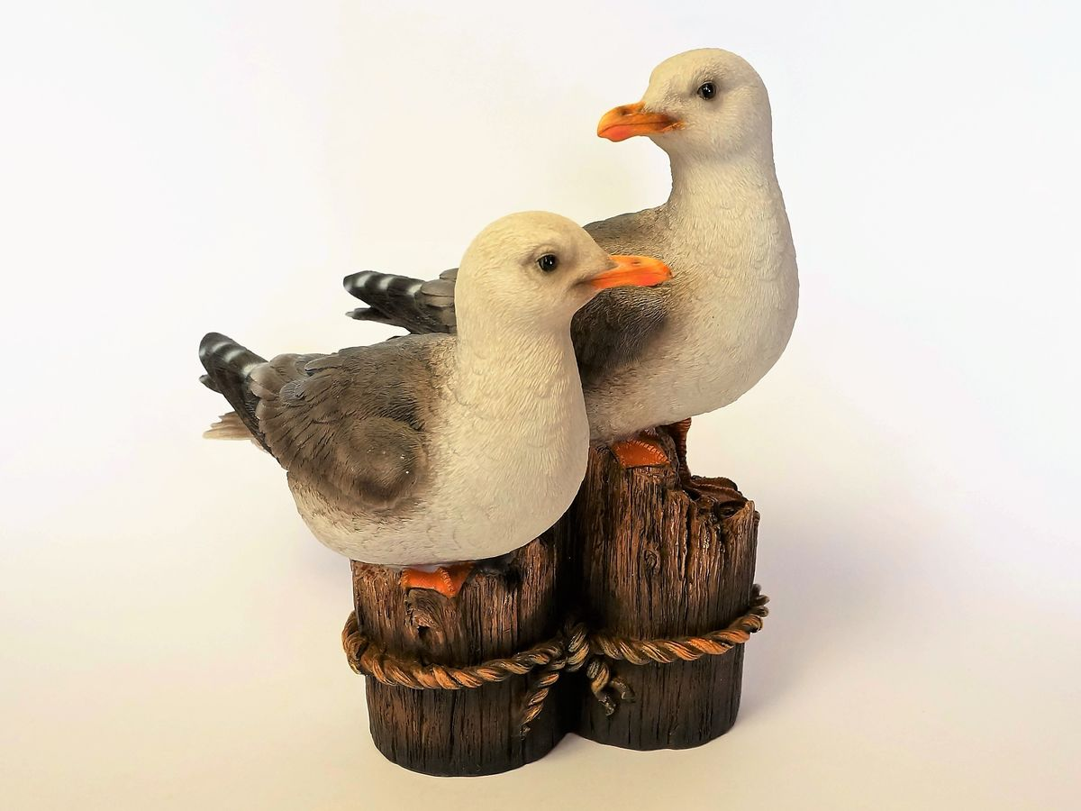 Seagulls on stumps indoor outdoor statue - The Land Down Under