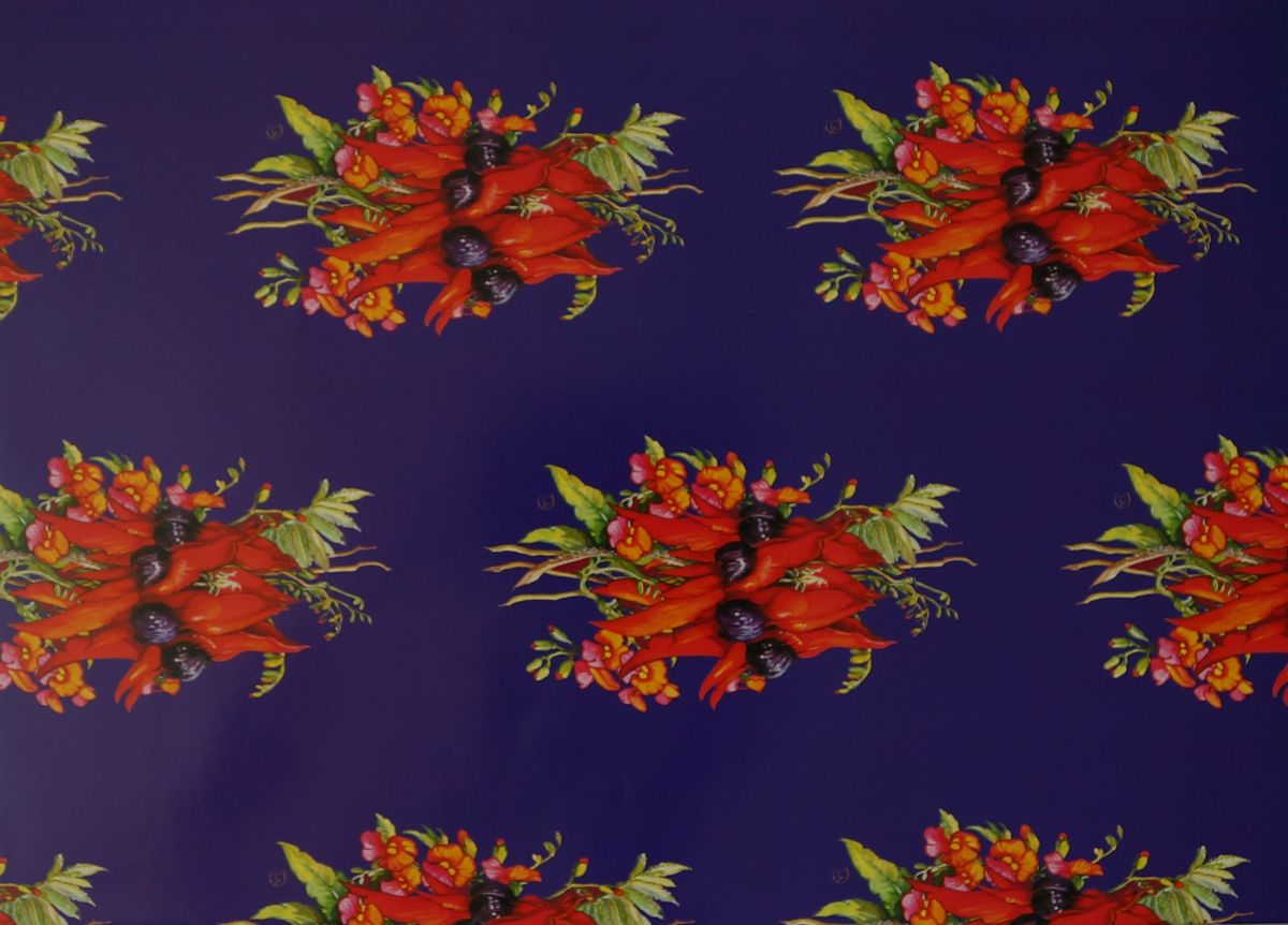 Sturt's Desert Pea & Flame Pea Gift Wrap. Sheet size Sheet size 46 x 64cm