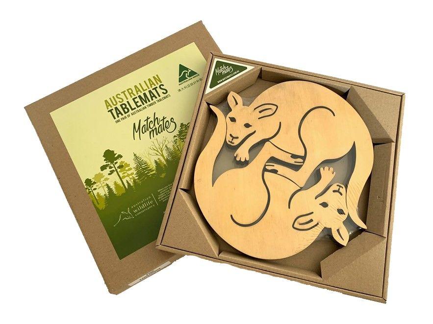 Tablemat - Trivet - Kangaroo Pine - Set of 2
