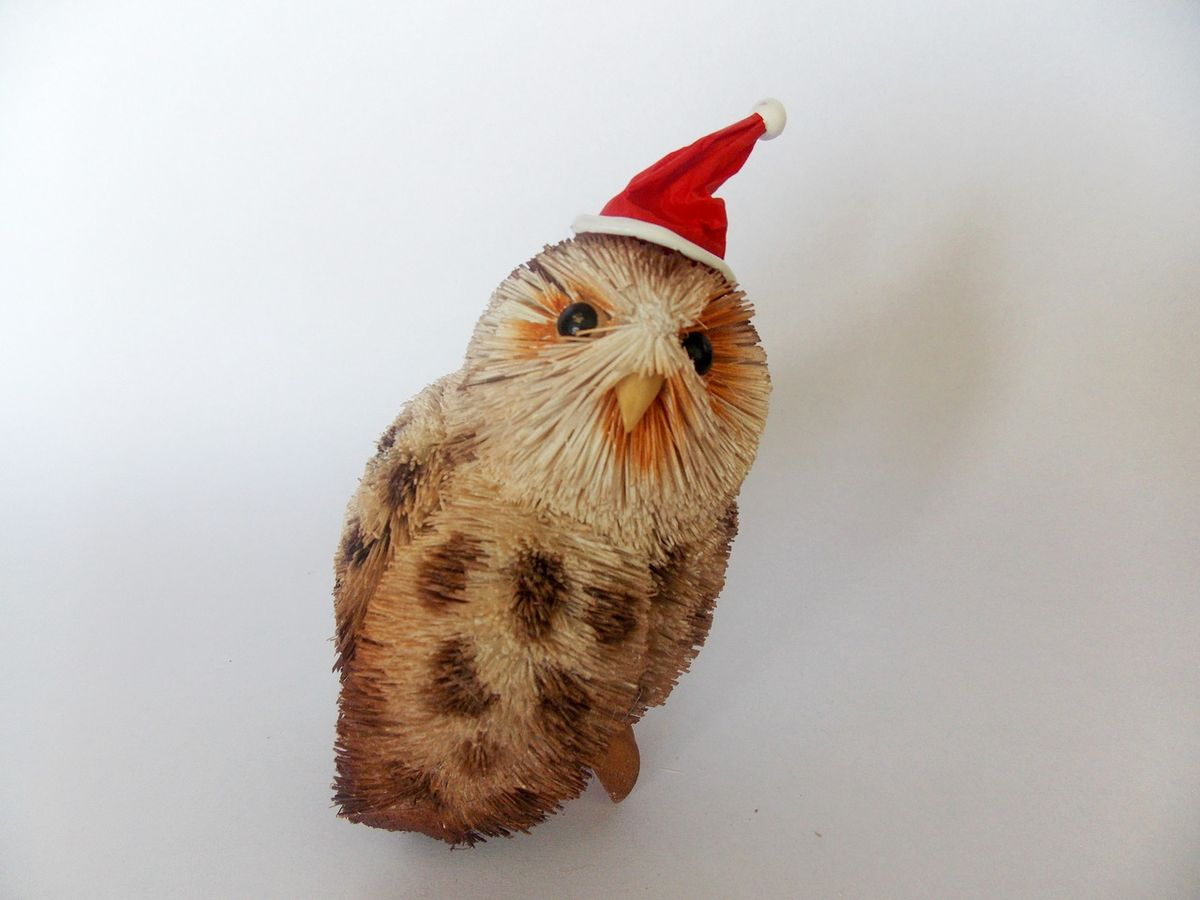 Tawny Owl Hanging Christmas Ornament