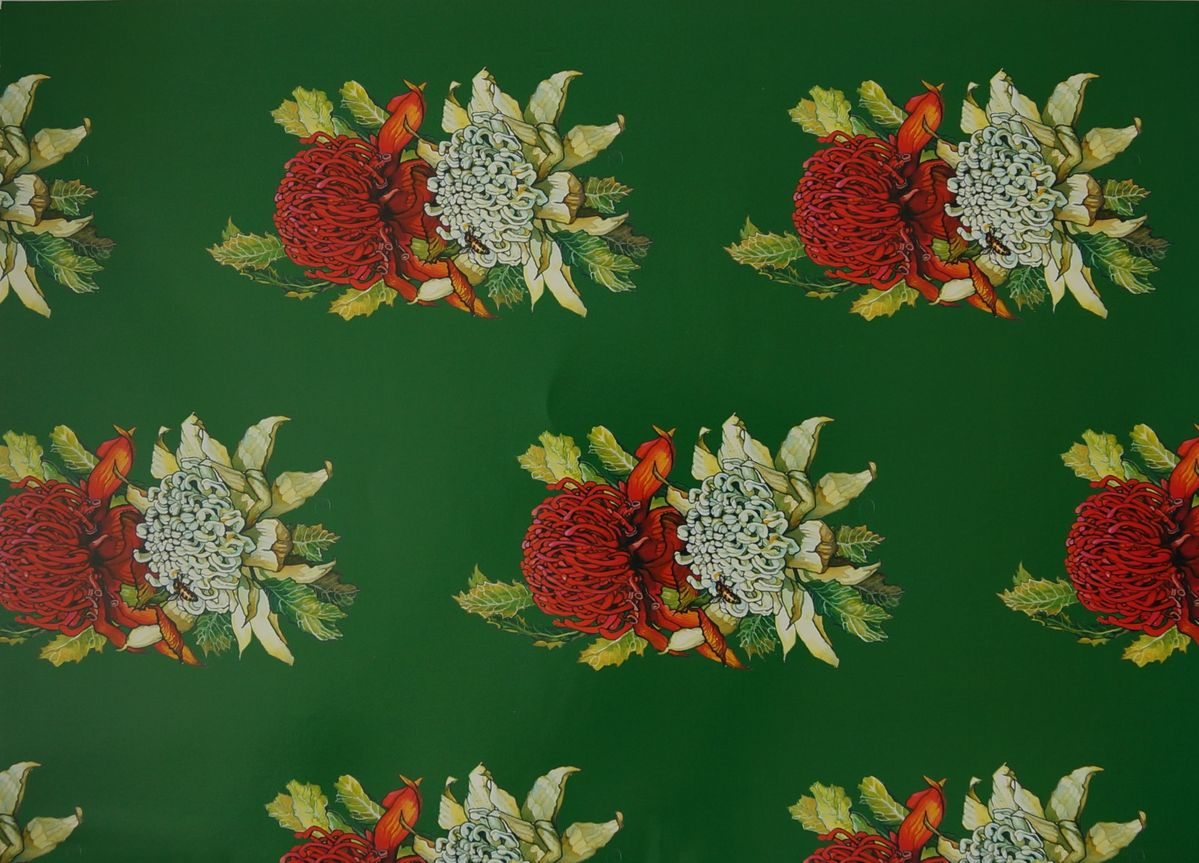 Single sheet of the beautiful, iconic waratah. Sheet size 46cm x 64cm. Available from The