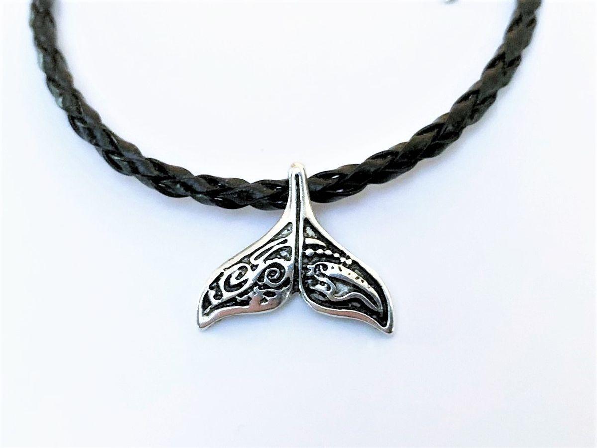 Whale Tail Bracelet - Silver Charm