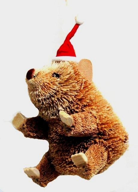 Wombat Hanging Christmas Ornament