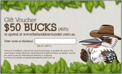 $50 Gift Card for The Land Down Under