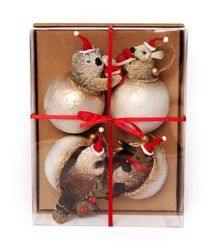 Aussie Animal Set 4 Christmas Baubles