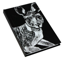 Note Book A6 - B&W Kangaroo