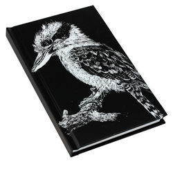 Note Book A6 - B&W Kookaburra