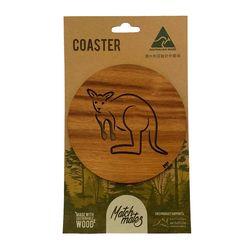 Coasters - Kangaroo Blackwood (round)