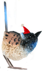 Blue Wren Christmas Tree Decoration