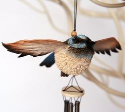 Blue Wren Wind Chime