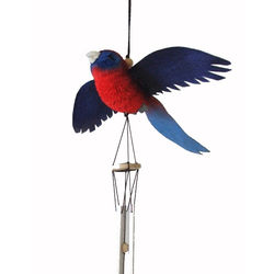 Crimson Rosella Wind Chime