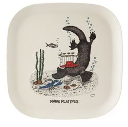 Eco-bamboo fibre Diving Platypus Tray - Plate