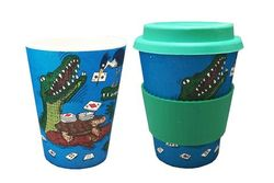 Eco-bamboo fibre Keep Cup - Crocodile