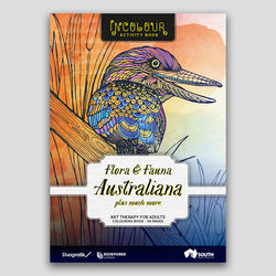 Flora and Fauna Australiana Adult Colouring Book