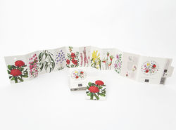 Each tag is adorned with one of Australia's beautiful floral emblems. Simply tear a ta