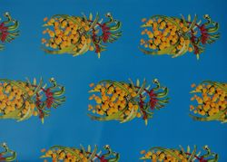Golden Wattle & Red & Green Kangaroo Paw Gift Wrap