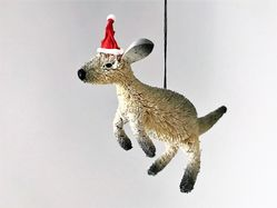 Kangaroo Grey Christmas Tree Decoration