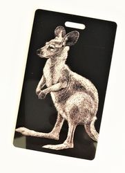 Luggage Tags - B&W Kangaroo