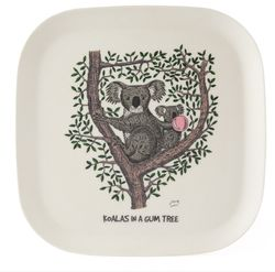 Eco-bamboo fibre Koalas in a Gum tree Tray - Plate