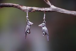 Kookaburra Earrings - Silver