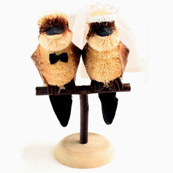 Kookaburra Bride and Groom Wedding Cake Topper