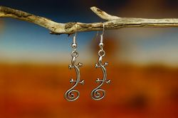 Lizard Earrings - Silver