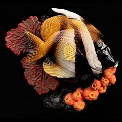 Masked Banner Fish Figurine