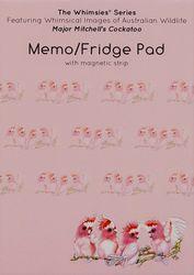 Memo Fridge Pad - Major Mitchell Cockatoo