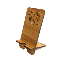 Mobile Phone Charging Stand - Kangaroo - Blackwood