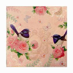 Napkins - Wrens on Pink