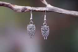 Owl Earrings - Silver