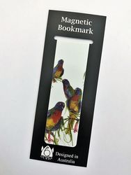 Magnetic Bookmark - Parakeets