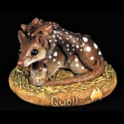 Quoll and joey figurine