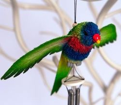Rainbow Lorikeet Wind Chime - The Land Down Under