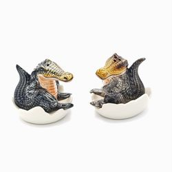 Salt & Pepper Shakers - Crocodiles