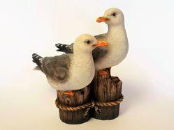 Seagulls on Stumps  Indoor/Outdoor Statue