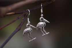 Jabiru Earrings - Silver
