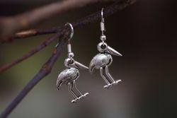 Jabiru Earrings - Silver