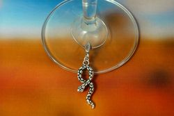 Snake Wine Glass Charm - The Land Down Under