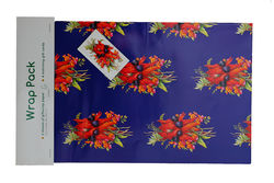 Sturts Desert Pea +amp Flame Pea Gift Wrap Pack