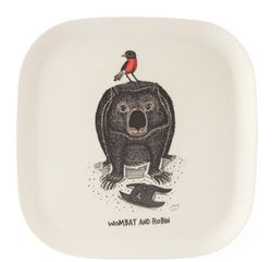 Eco-bamboo fibre Wombat and Robin Tray - Plate