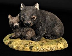 Wombat and joey figurine